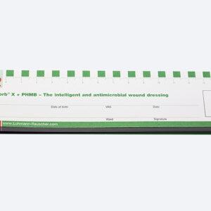 Sticky note wound ruler